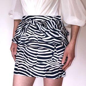 H&M peplum miniskirt